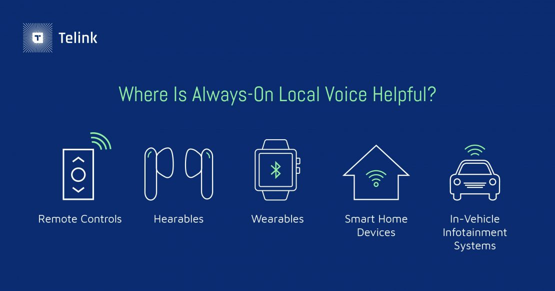 Always-on local voice use cases