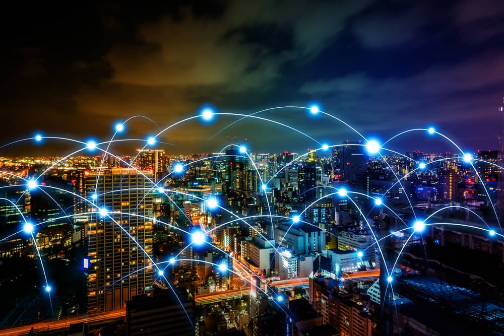 IoT network over city