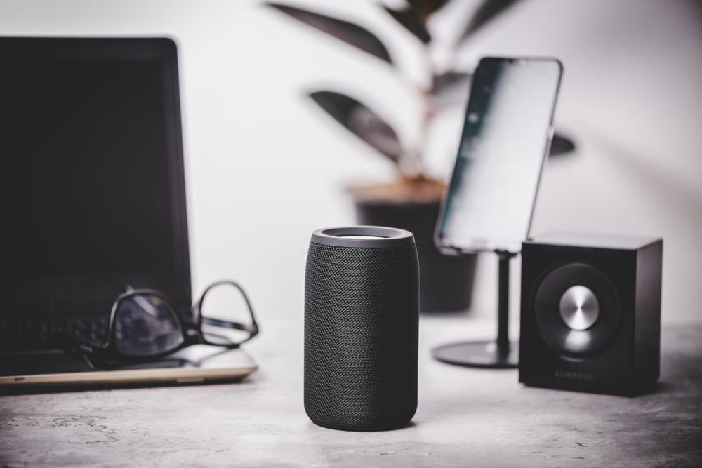 Speaker on a table